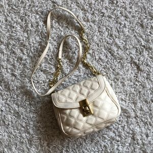 Banana Republic White Quilted Crossbody Bag
